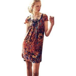 Anthropologie Maeve floral shift dress